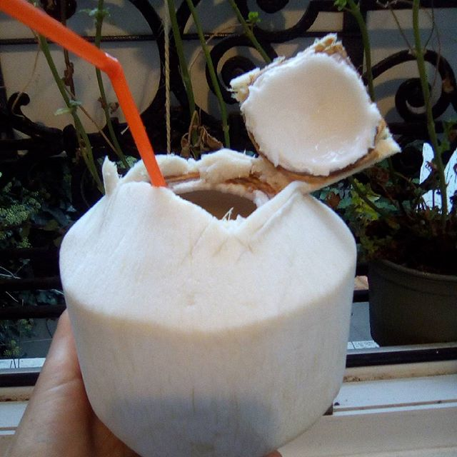 Drink the heavenly water which is inside your fresh coconut and go straight to paradise - Claire Samuel