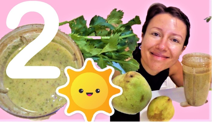 Great #smoothies for #autumn Series: persimon, ginger and spirulina - episode 2 from Claire Samuel
