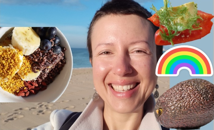 A typical #raw vegan day in Algarve Portugal in February Claire Samuel