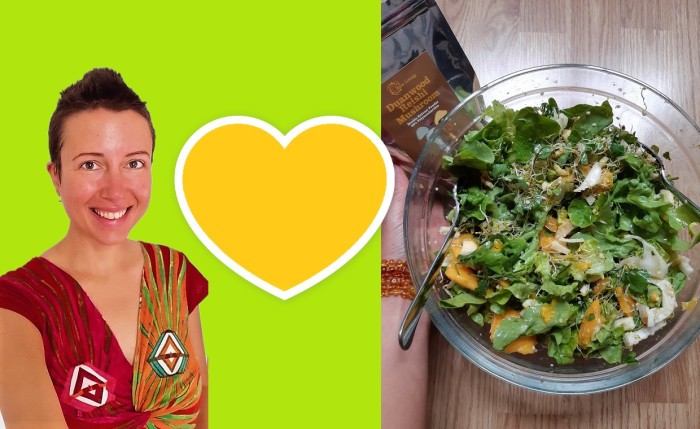 How to make an extraordinary raw salad without avocado nor oil? #hemp seeds Claire Samuel