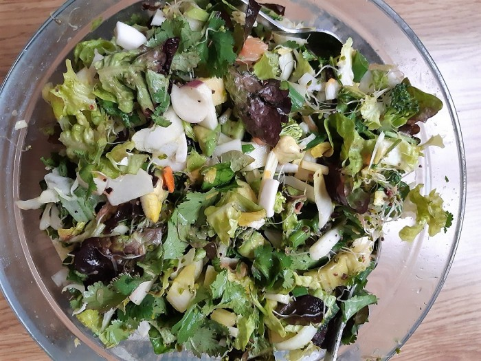 Abundance salad #raw vegan recipe