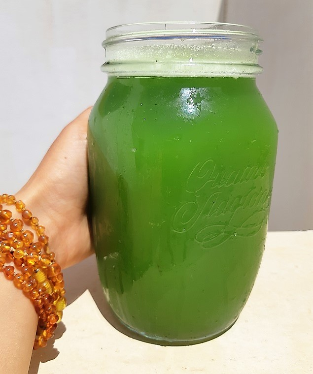 How to make a cucumber green #juice with no extractor?