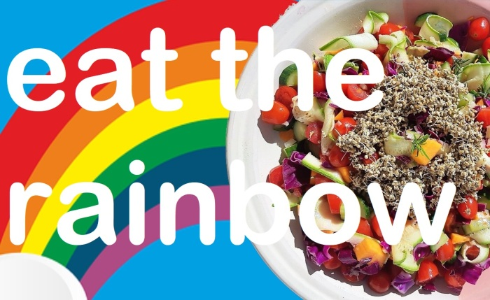 Eat the rainbow salad #rawvegan #recipe