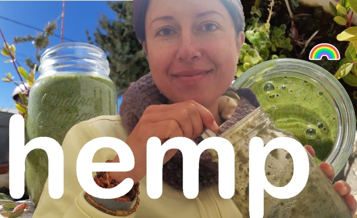 How to use #hemp powder in a green and yummy #smoothie? #rawvegan