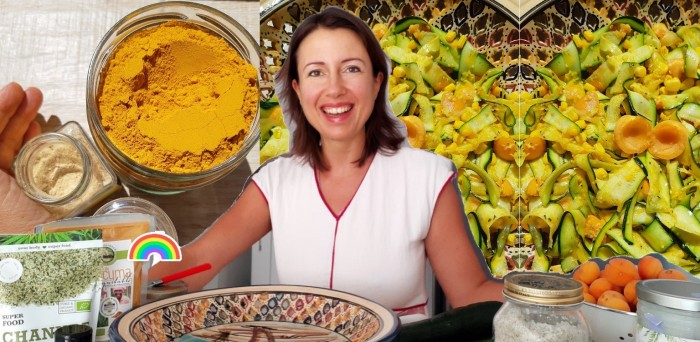 A picnic #salad to almost die for with #turmeric and #ginger