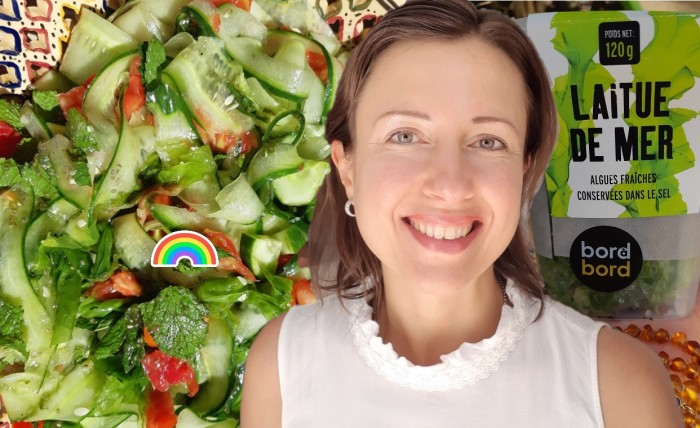 Salad #recipe with sea lettuce #seawedd and well-being